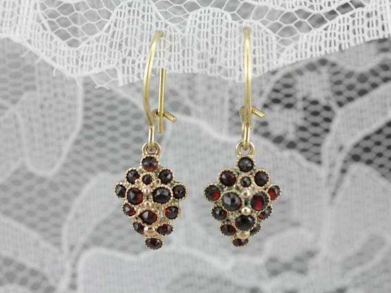 antique-bohemian-czech-garnet-earrings
