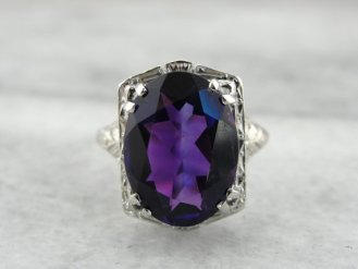 7. The Amethyst Art Deco Zelda Ring From The Elizabeth Henry Collection