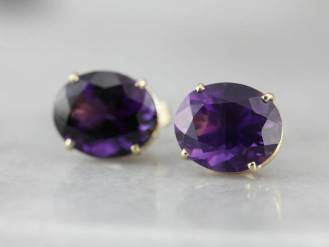 15. Royal Purple Amethyst Stud Earrings