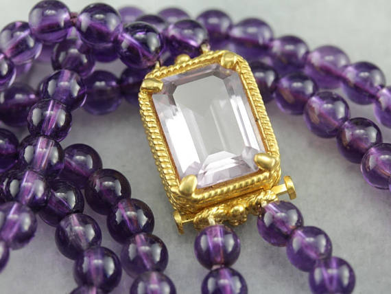 12. Amethyst Bead Necklace