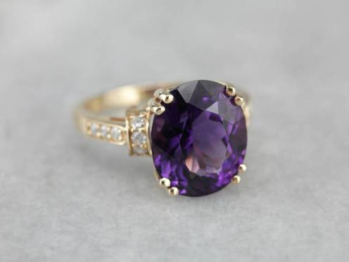 11. The Edie Amethyst Diamond Cocktail Ring by Elizabeth Henry