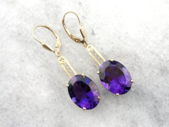 2. Amethyst in Filigree Drop Earrings