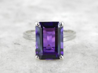 4. Fine Amethyst Cocktail Ring