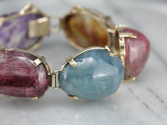 gemstone-cabochon-link-bracelet
