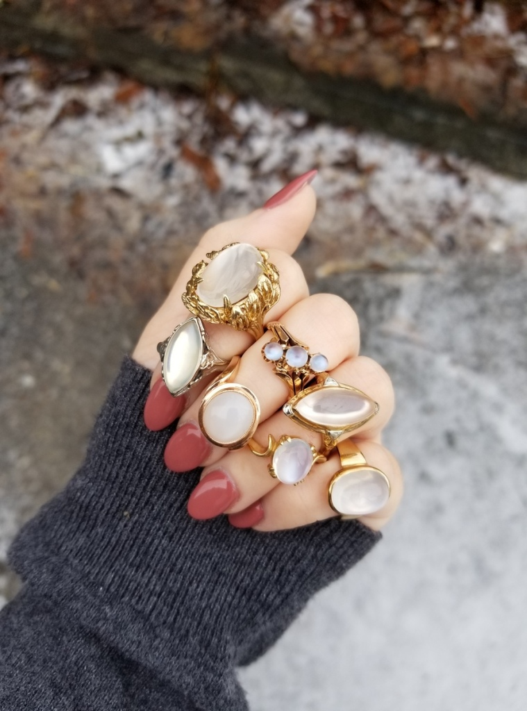 Moonstone rings from Market Square Jewelers