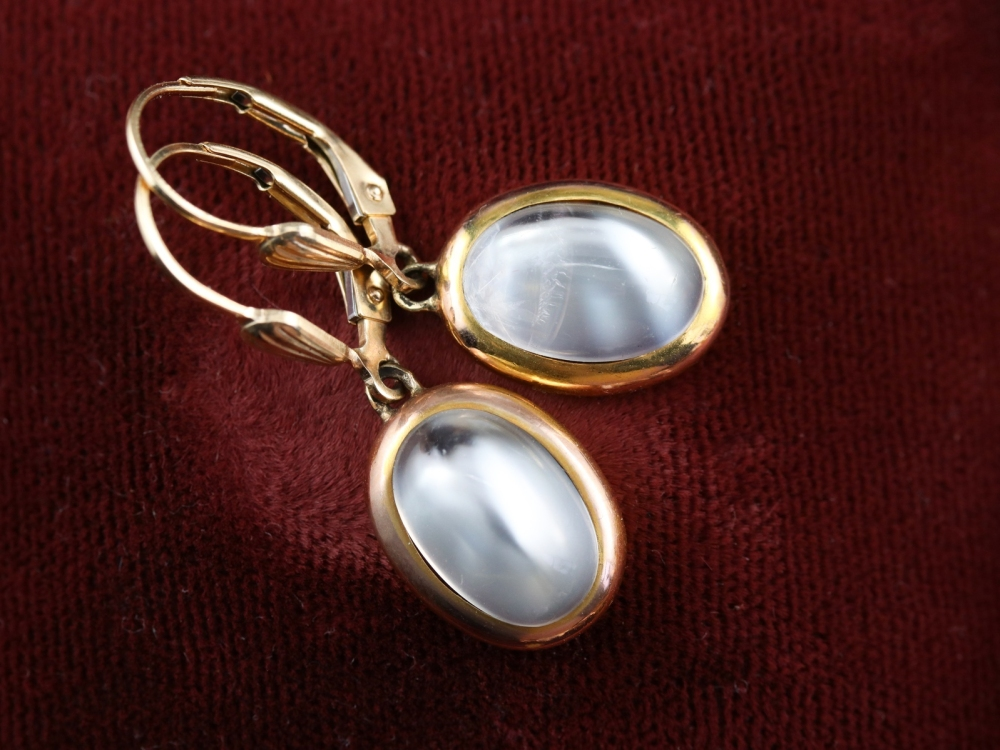 Moonstone earrings from Market Square Jewelers